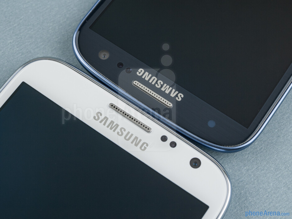 The Samsung Galaxy Note II (left) and the Samsung Galaxy S III (right) - Samsung Galaxy Note II vs Galaxy S III
