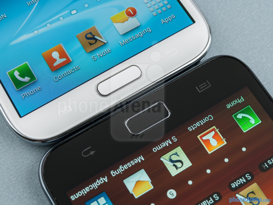 The Samsung Galaxy Note II (left) and the Samsung Galaxy Note (right) - Samsung Galaxy Note II vs Galaxy Note