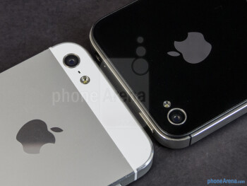 Rear cameras - The Apple iPhone 5 (left) and the Apple iPhone 4S (right) - Apple iPhone 5 vs Apple iPhone 4S