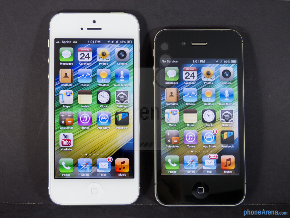 The Apple iPhone 5 (left) and the Apple iPhone 4S (right) - Apple iPhone 5 vs Apple iPhone 4S