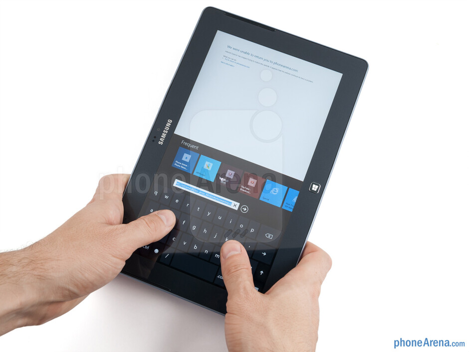 The Samsung ATIV Tab is made entirely out of plastic - Samsung ATIV Tab Preview