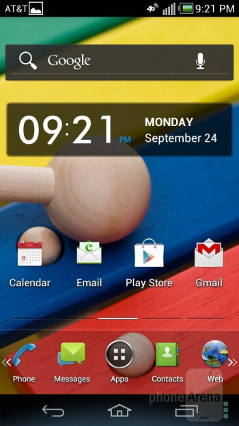 Pantech Flex has a customized UI on top of Android 4.0.4 Ice Cream Sandwich - Pantech Flex Review