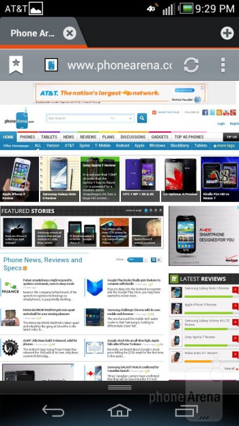 Web browsing with with Pantech Flex - Pantech Flex Review