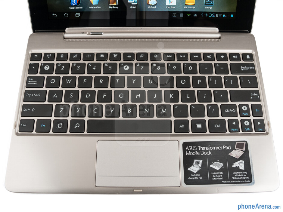 The chiclet keyboard - Asus Transformer Pad Infinity Review