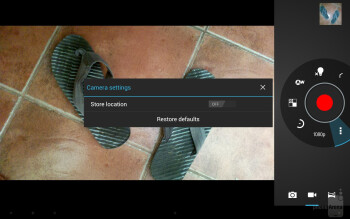 Camera interface - Asus Transformer Pad Infinity Review