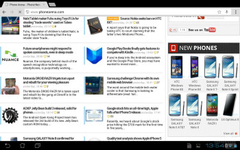 Web browsing - Asus Transformer Pad Infinity Review