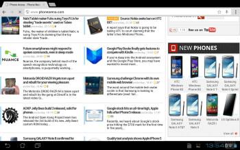 Web browsing - Asus Transformer Pad Infinity Review