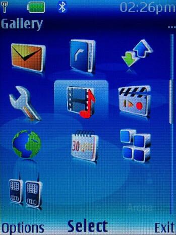 3 x 4 grid menu - Nokia 6300 Review
