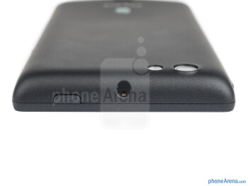 3.5mm jack and power key (top) - The sides of the Sony Xperia miro - Sony Xperia miro Review