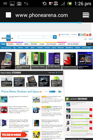Surfing the internet on the Sony Xperia miro - Sony Xperia miro Review