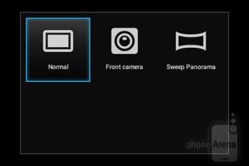 Camera interface - Sony Xperia miro Review