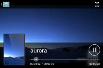 Video player - Sony Xperia miro Review