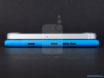 Right - The Apple iPhone 5 (top, left) and the Nokia Lumia 900 (bottom, right) - Apple iPhone 5 vs Nokia Lumia 900