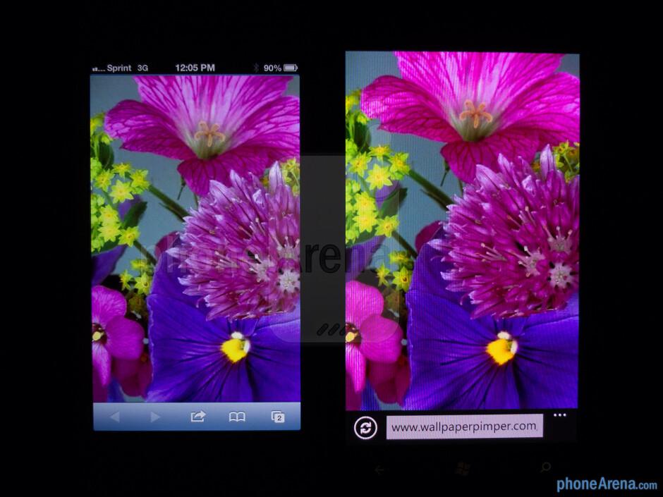 The Apple iPhone 5 (left) and the Nokia Lumia 900 (right) - Apple iPhone 5 vs Nokia Lumia 900