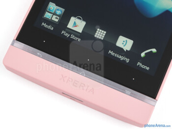 Android buttons and transparent illuminated strip - Sony Xperia SL Review