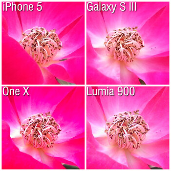 100% Crops - Camera comparison: Apple iPhone 5 vs Samsung Galaxy S III vs HTC One X vs Nokia Lumia 900