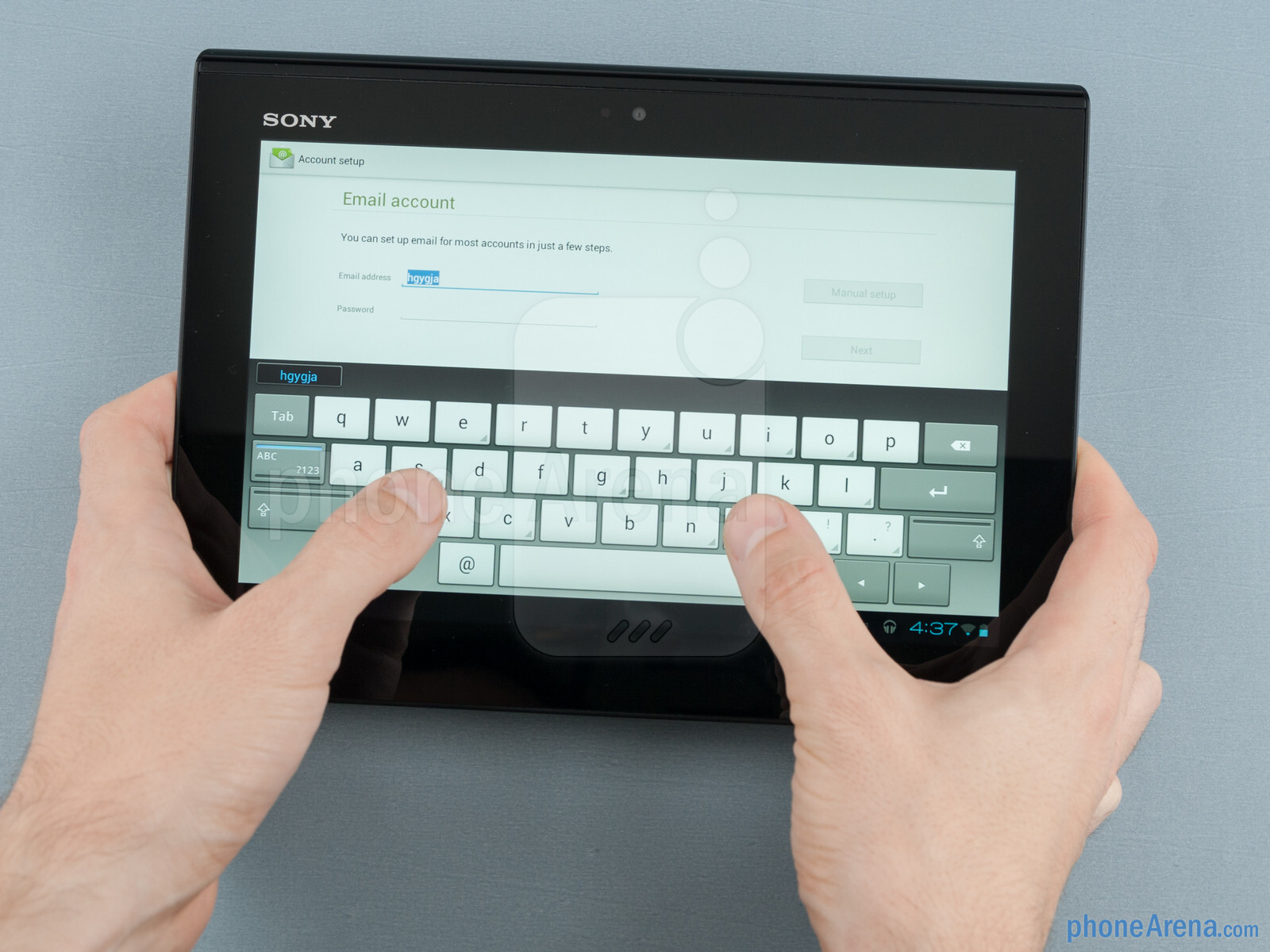 how to open sony xperia tablet