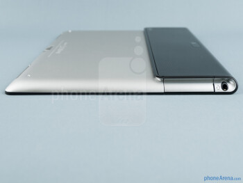 The SD card slot and charging port are on the left - Sony Xperia Tablet S Review