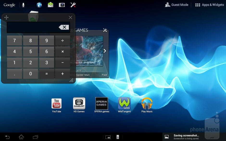 The Xperia Tablet S has the Small App dock we are familiar with from the newest Xperia phones - Sony Xperia Tablet S Review