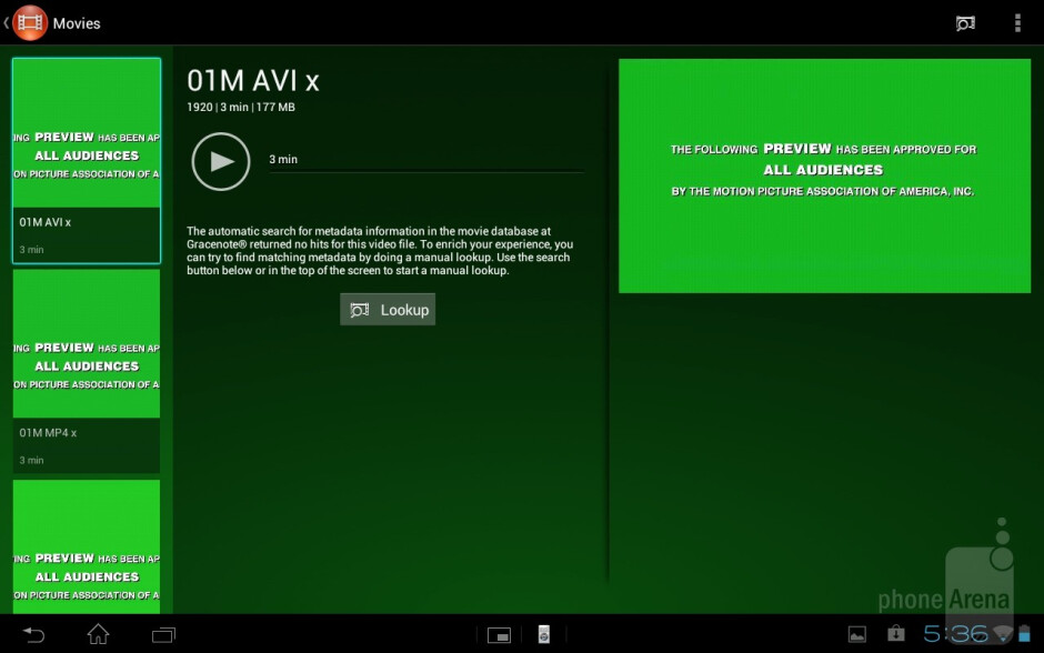 Sony Xperia Tablet S supports MPEG-4 videos up to 1080 definition - Sony Xperia Tablet S Review