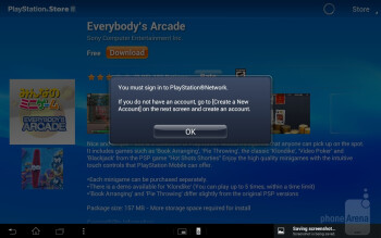 The PlayStation Mobile Store - Sony Xperia Tablet S Review