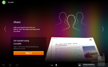 Socialife application - Sony Xperia Tablet S Review