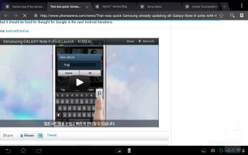 The stock ICS browser of the Sony Xperia Tablet S runs well and supports Adobe Flash - Sony Xperia Tablet S Review
