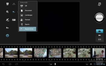The camera interface of the 8MP shooter doesn't sport many functions - Sony Xperia Tablet S Review