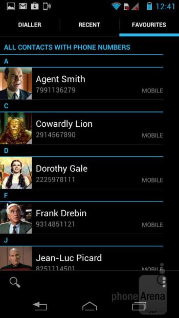 Phonebook - Motorola RAZR i Review