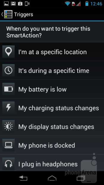 Smart Actions - Motorola RAZR i Review