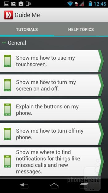Guide Me app - Motorola RAZR i Review