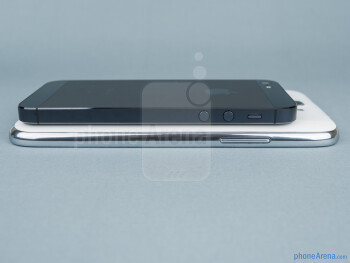 Left - Samsung Galaxy Note II vs Apple iPhone 5