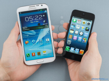 Samsung Galaxy Note II vs Apple iPhone 5