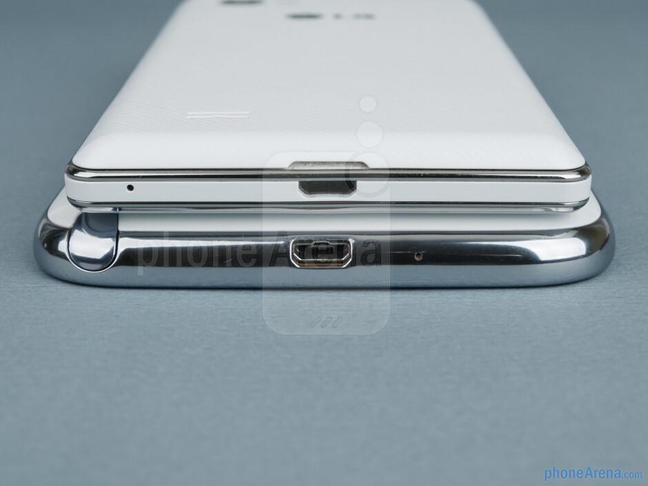 Bottom - Samsung Galaxy Note II vs LG Optimus 4X HD