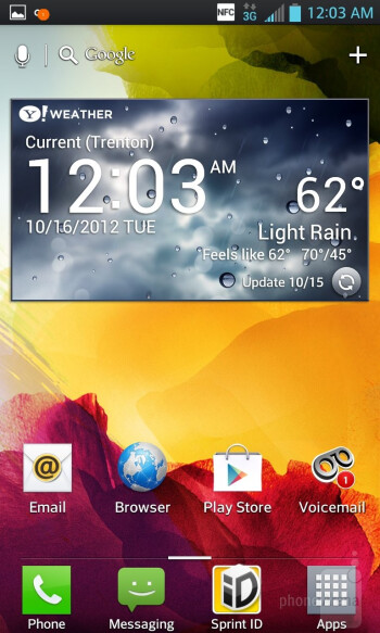 Interface of the LG Optimus G - Samsung Galaxy Note II vs LG Optimus G