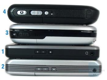 1-X500, 2-M700, 3-T-Mobile MDA, 4-M600+ - Eten Glofiish M700 Review