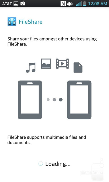 FileShare app - LG Optimus G (AT&T & Sprint) Review