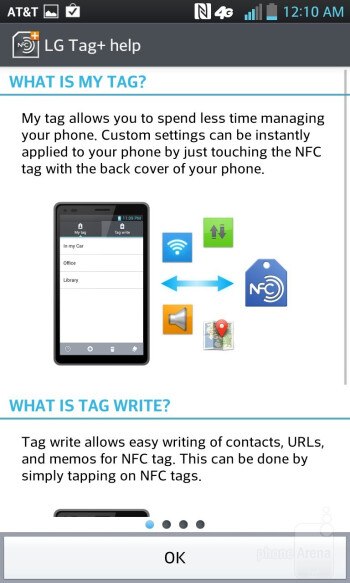 The LG Tag+ app - LG Optimus G (AT&T & Sprint) Review