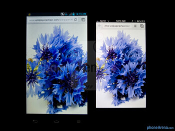The LG Optimus G (left) and the Apple iPhone 5 (right) - LG Optimus G vs Apple iPhone 5
