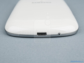 microUSB port (bottom) - The sides of the Samsung Galaxy S III mini - Samsung Galaxy S III mini Review
