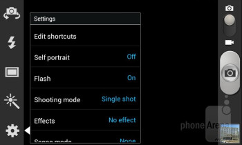 Camera interface - Samsung Galaxy S III mini Review