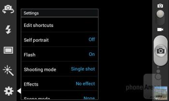 Camera interface - Samsung Galaxy S III mini Review