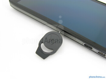 The hidden door with the included push-pin - Motorola DROID RAZR HD Review