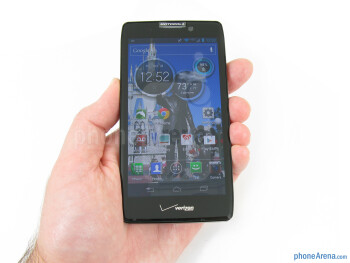 The Motorola DROID RAZR HD isn't overwhelming, and still fits quite comfortably in the hand or pocket - Motorola DROID RAZR HD Review