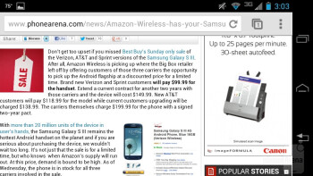 The browser of the Motorola DROID RAZR HD - Motorola DROID RAZR HD Review