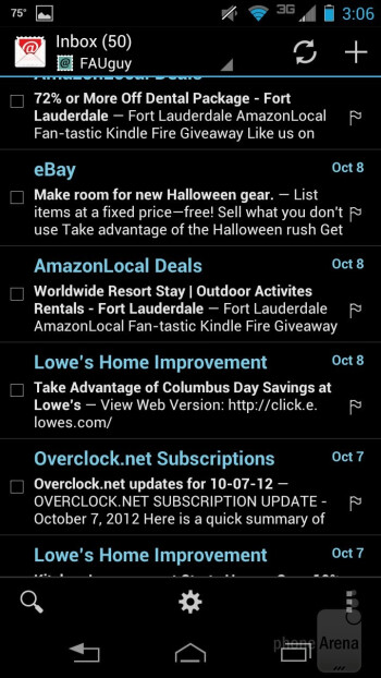 Email - Motorola DROID RAZR HD Review