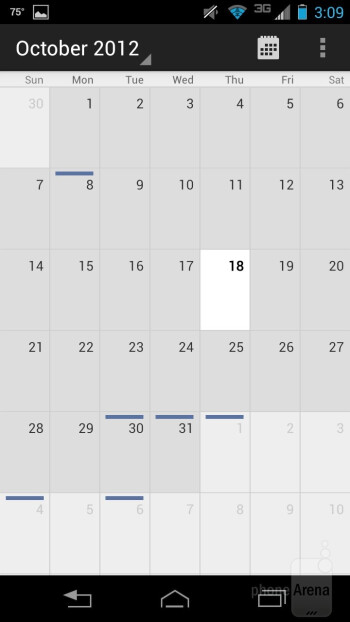 Calendar - Motorola DROID RAZR HD Review