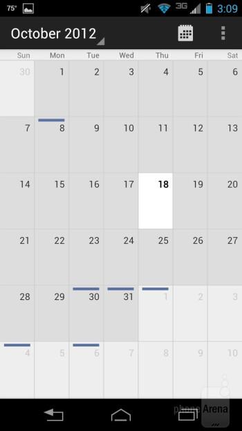 Calendar - Motorola DROID RAZR HD Review