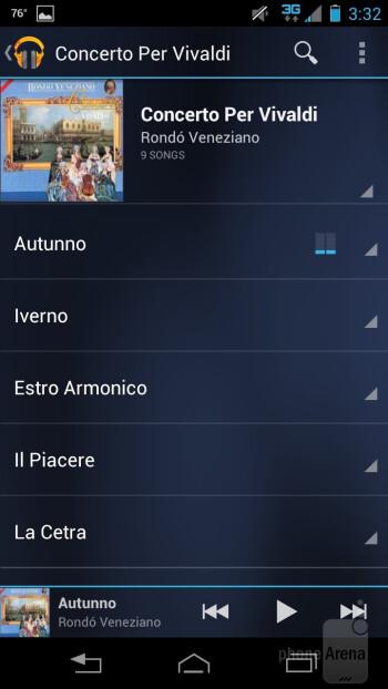 Google's Play Music app - Motorola DROID RAZR HD Review