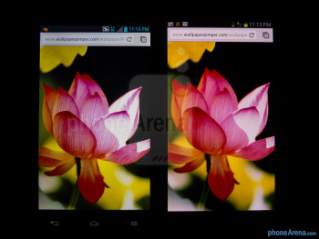 The LG Optimus G is on the left, while the Galaxy S III is on the right - LG Optimus G vs Samsung Galaxy S III